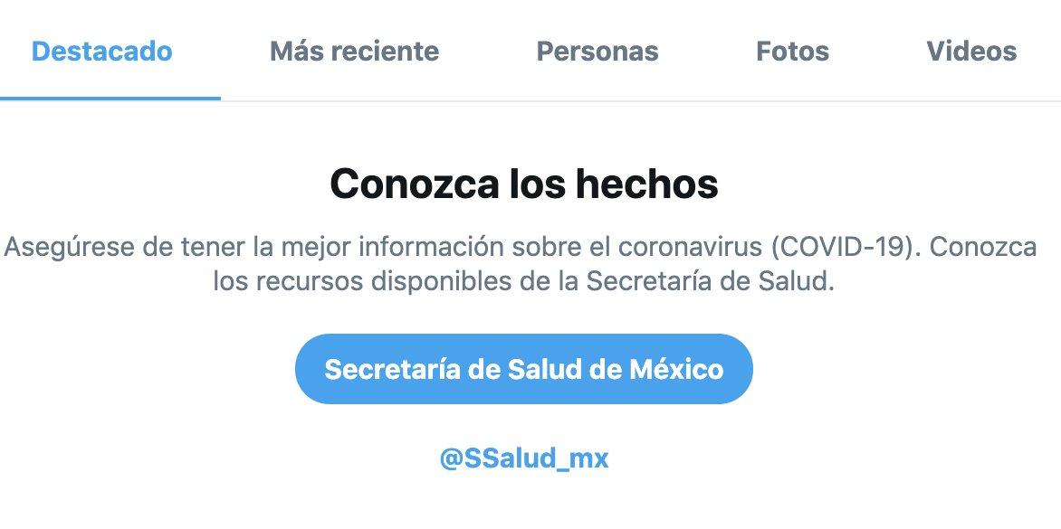 Hoy activamos avisos localizados de búsqueda en México en colaboración con @SSalud_mx.   Seguimos trabajando con aliados locales para ayudarte a acceder a información confiable sobre COVID-19