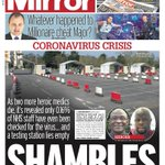Image for the Tweet beginning: MIRROR: Shambles #TomorrowsPapersToday