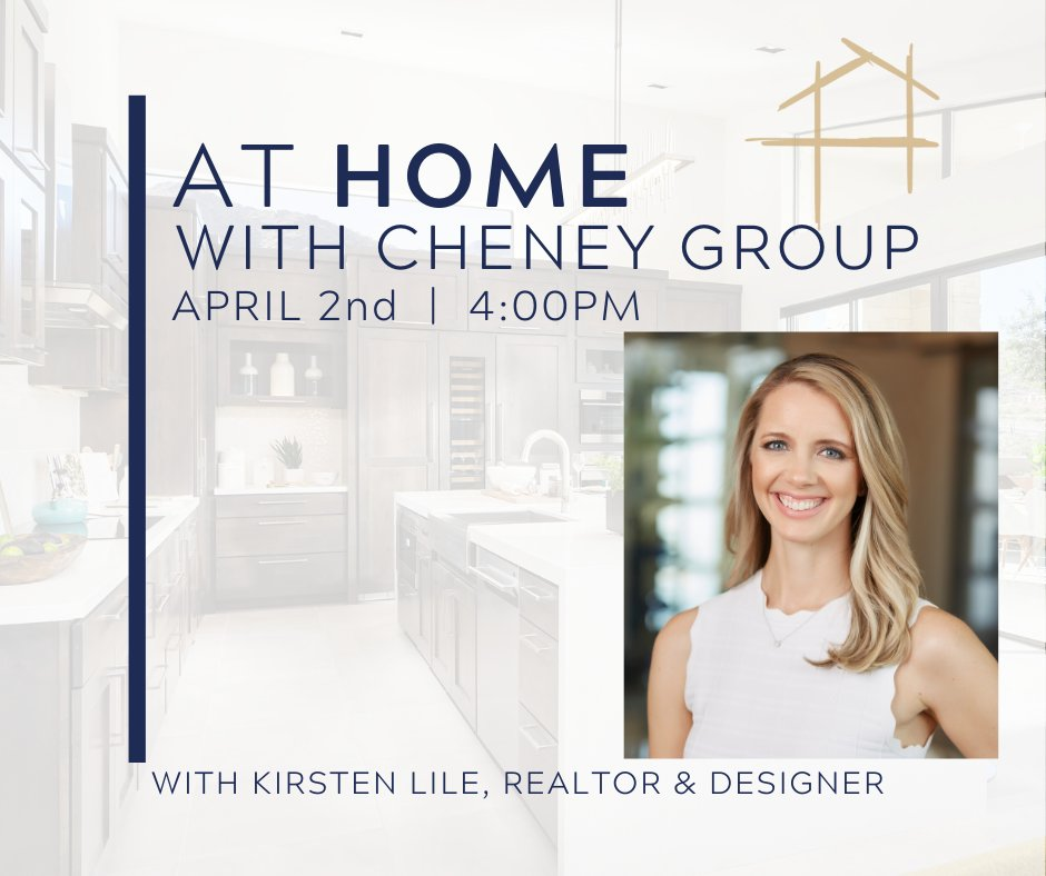 Home Design for Home Sellers... LIVE!  Looking to update your home?  Join us with our in house designer, Kirsten Lile Live on Instagram Thursday, April 2nd at 4PM! pic.twitter.com/0512an5FhA