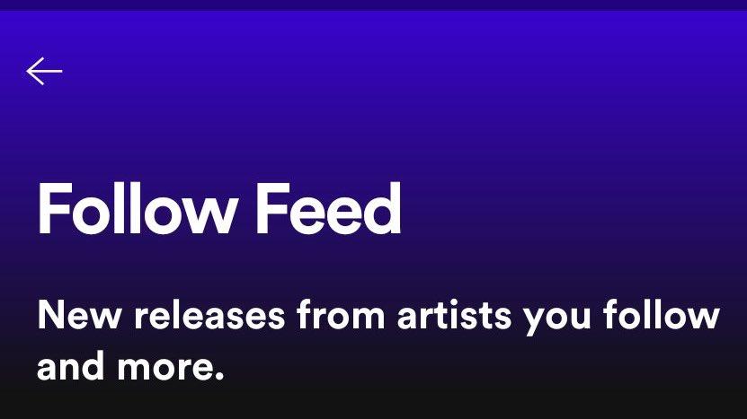 Spotifys neuer Feed mit Neuigkeiten von Künstlern, denen man folgt, ist nun in der Public Beta. https://t.co/4MQe8mAhD4