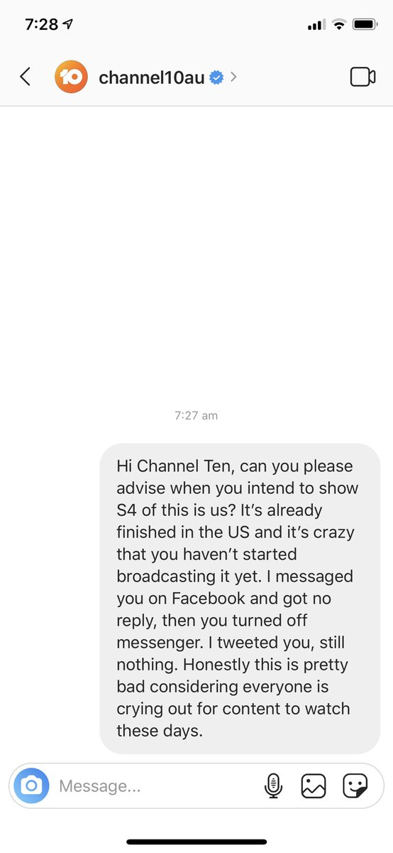 Honestly @Channel10AU if you don't want to broadcast something then DON'T retain the rights. Let Disney sell it to a broadcaster that's going to play the show! Load it up on 10play at least. It's this disregard for how people watch content that makes you the least watch channel! pic.twitter.com/0yxFTGNtBB