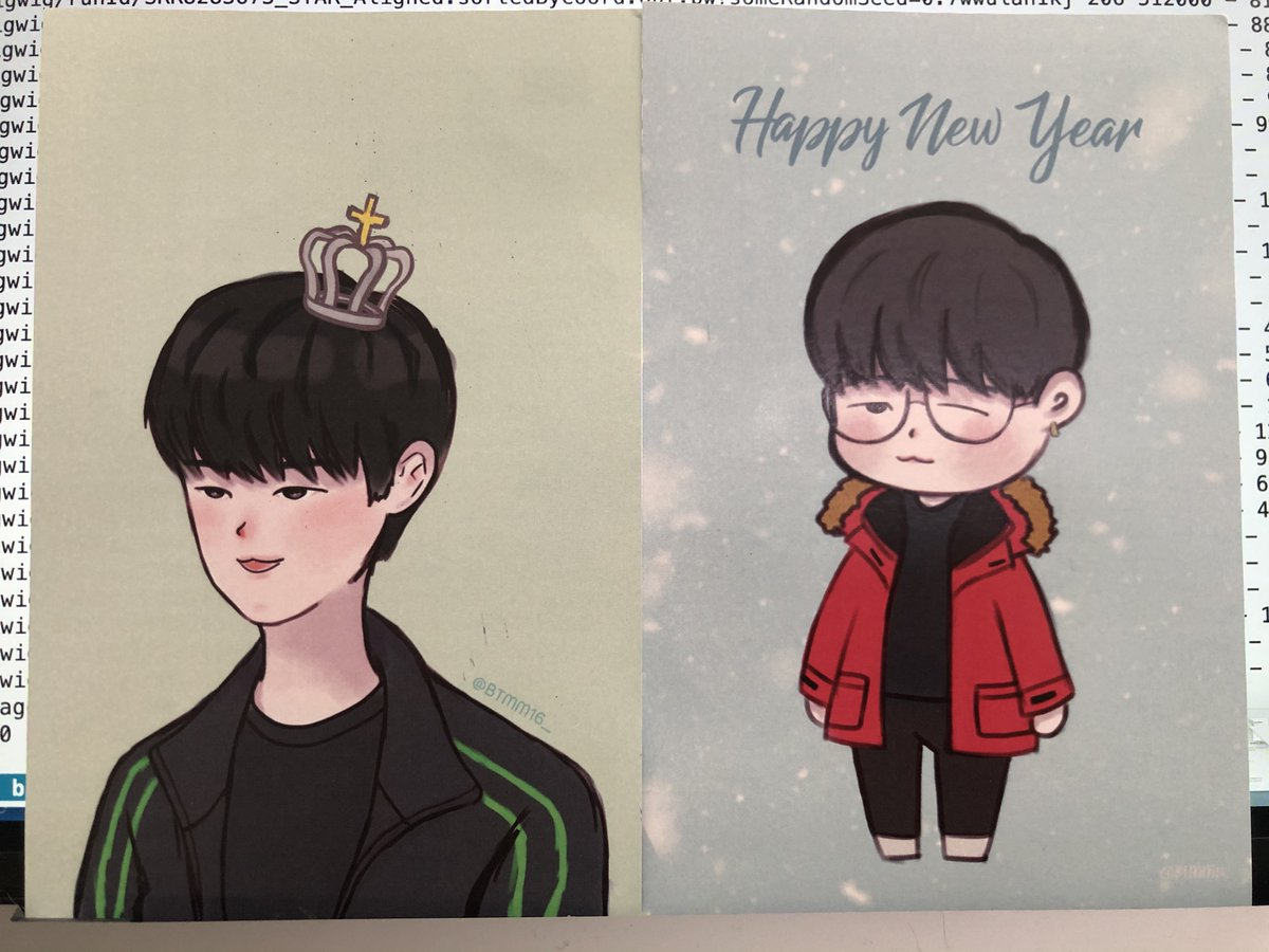 I just got these Crown postcards! Isn't it the cutest or what?! Thank you, @BTMM16_ pic.twitter.com/eMvneTXv7d