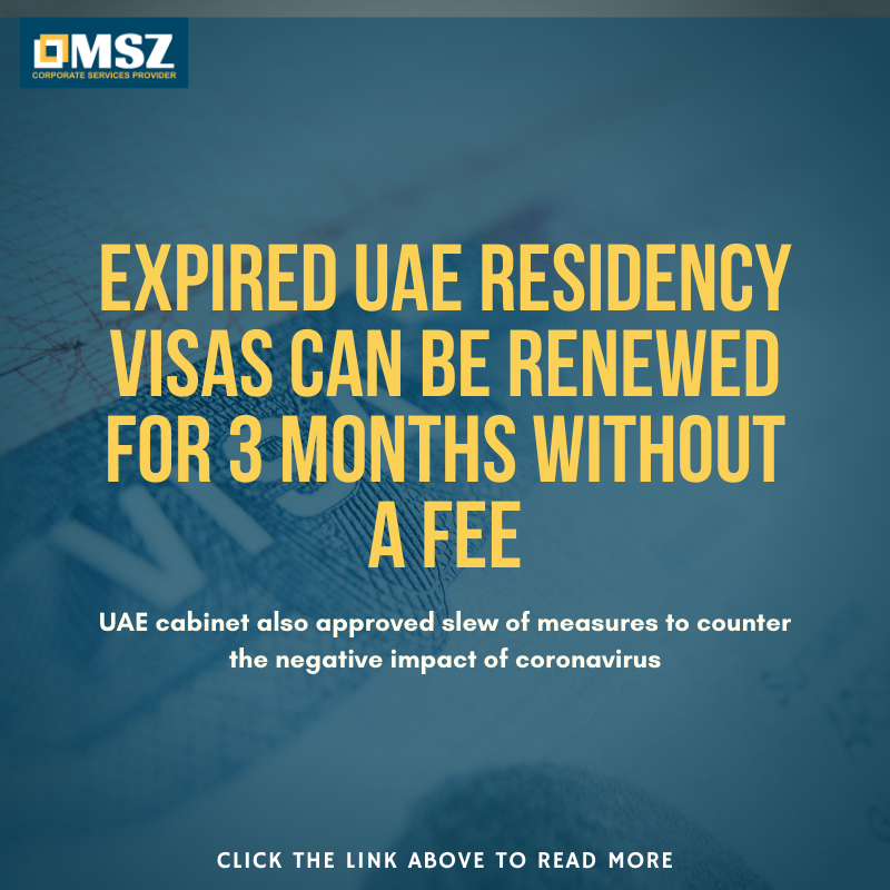 COVID-19: Expired UAE residency visas can be renewed for 3 months without a fee.  Read more below: https://bit.ly/2R3DkAm   #mszconsultancy #mszcsp #entrepreneurmindset #businessgoals #businessopportunity #StartUpBusiness #startuptips #coronavirus #mydubai #uae #visapic.twitter.com/972k0iW7m2