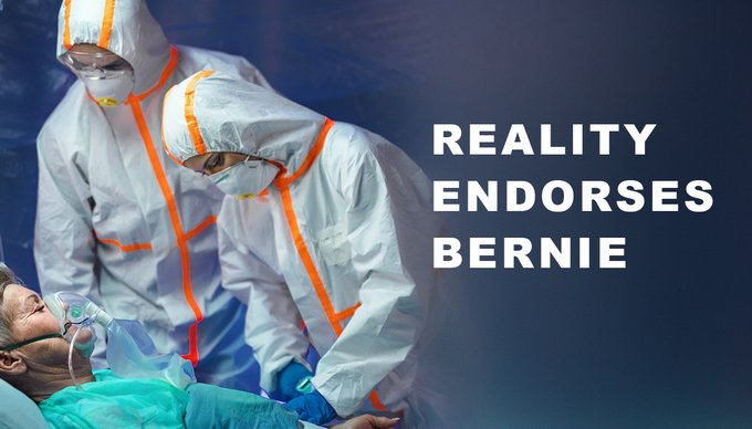 Bernie is handling the Reality of this #coronavirus pandemic better than anyone. He understands that #M4AllSavesLives   If you agree. Please join our Virtual Rally and help us get  #RealityEndorsesBernie Trending!<br>http://pic.twitter.com/b7YuBjkwsa