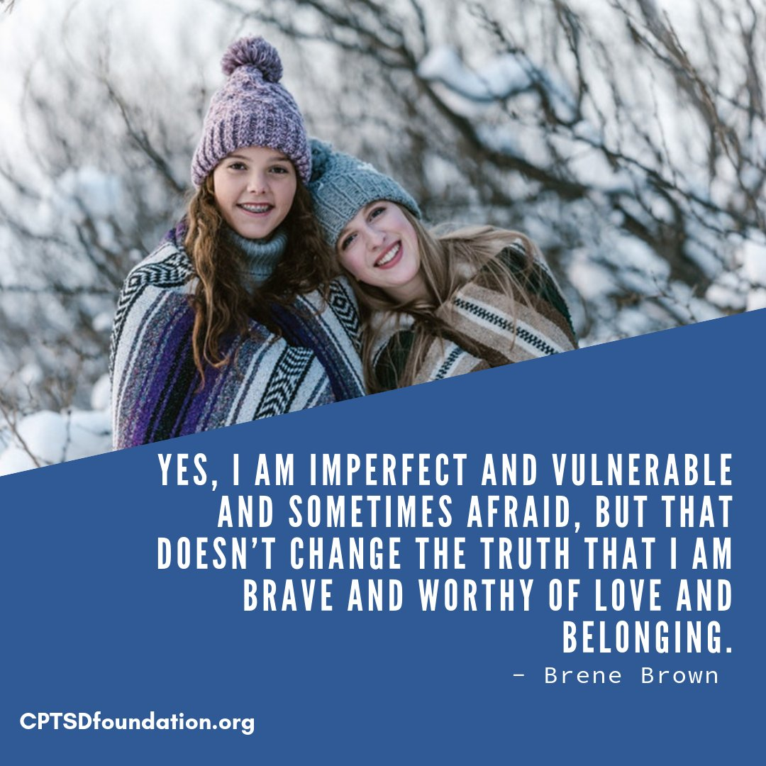 Yes, I am imperfect and vulnerable and sometimes afraid, but that doesn't change the truth that I am brave and worthy of love and belonging. - #GentleReminder #RecoveryIsPossible #NoMoreShame #YouAreEnough #YouAreNotAlone #MentalHealthMatters #RecoveryIsWorthIt #vulnerabilitypic.twitter.com/kc8fvlfnPF