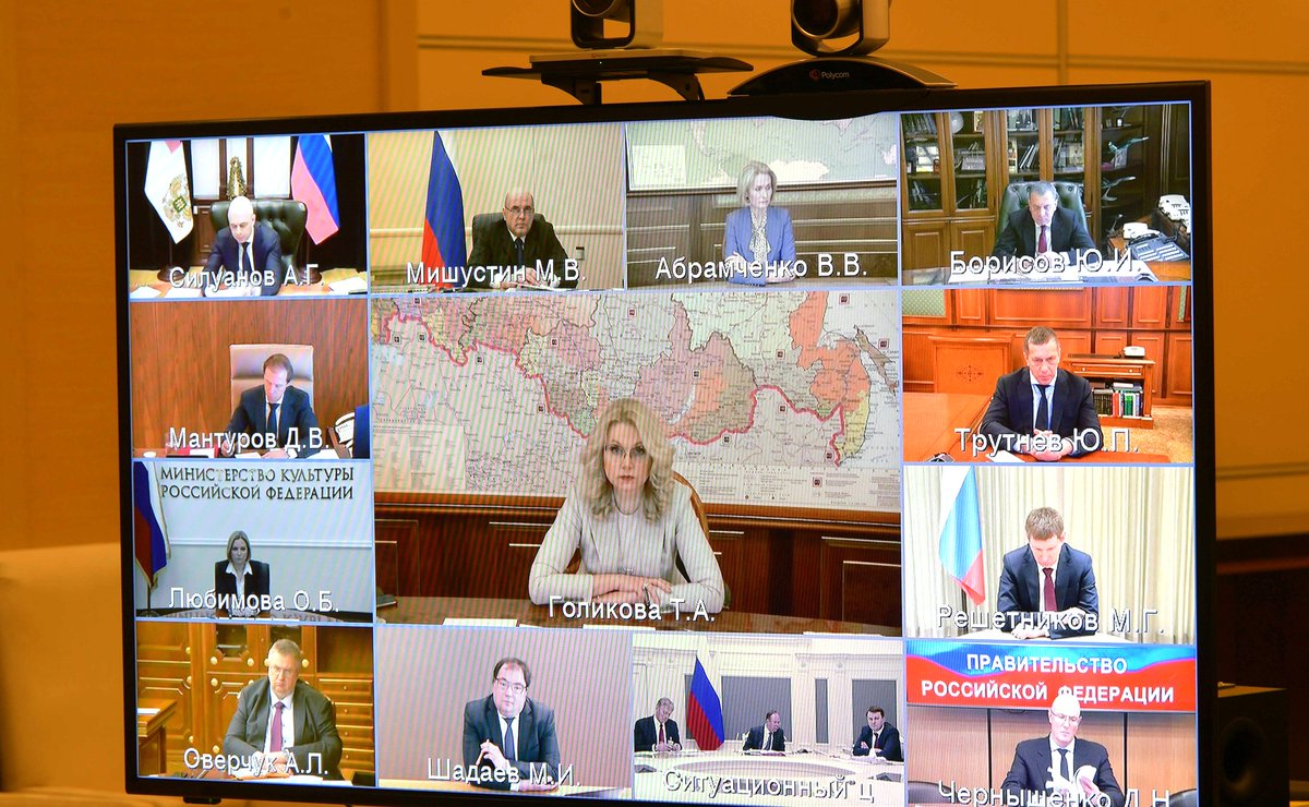 President Of Russia On Twitter Vladimir Putin Held A Meeting By Videoconference With Governmentrf Combating The Coronavirus And The Socioeconomic Agenda Were Discussed Https T Co Wm9lbla6kf Https T Co 4mjdegqo6q