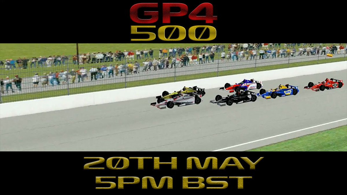 We are delighted to announce that we will be doing a one-off Indy 500 race on the 20th May where it will be the first time where we will have a race outside of GP4 as it will be hosted on NR2003. 41 Drivers will take part with signups opening tomorrow after Day 4 of testing.