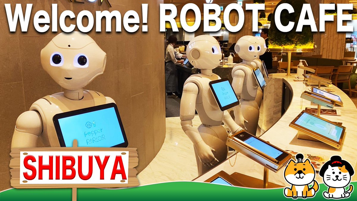 """I went to """"Pepper PARLOR"""" at TOKYU PLAZA SHIBUYA.This is a cafe where humans and robots work together. It was amazing and so cute!▷▷http://youtu.be/Nsp2NI4oESQ  #japan #tokyo #shibuya #tokyuplazashibuya #robot #robotcafe #pepper #cute #amazing #youtubepic.twitter.com/gE49m8eT2B"""