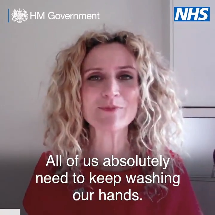 """""""All of us absolutely need to keep washing our hands"""" - @Dr_Ellie Help protect yourself and others from coronavirus (#COVID19) by: ▶️ Washing your hands often with soap and water for at least 20 seconds. ▶️ Always washing your hands when you return home from leaving the house."""