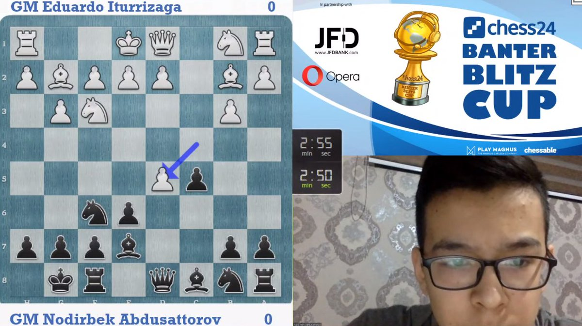 test Twitter Media - 15-year-old Nodirbek Abdusattorov is LIVE now playing for a place in the #BanterBlitzCup 1/4 finals! https://t.co/FCl1LAtlE9  #c24live https://t.co/FVLULMIDgQ