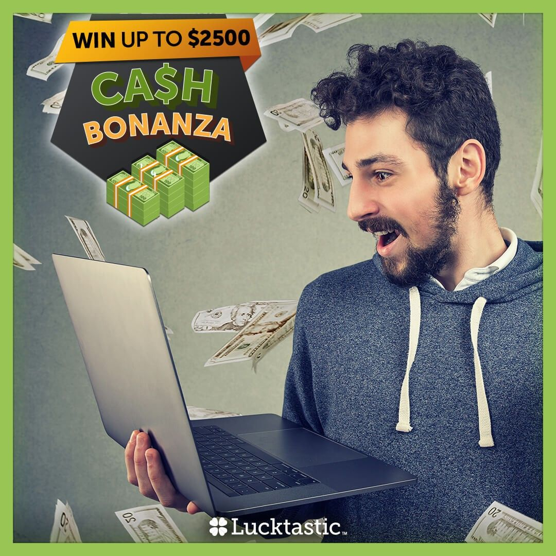 Cash Bonanza is happening now! 💰 That means cash for you. 3 winners GUARANTEED! 🤑🍀💵Enter now for your chance to win $$$! 😀