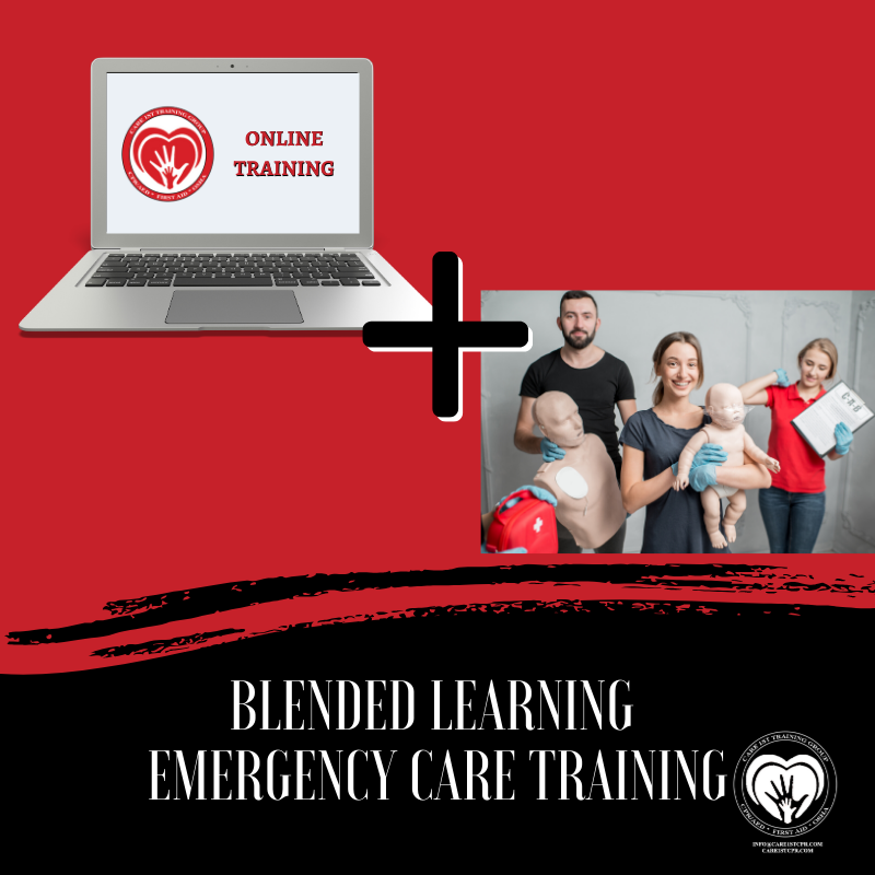 Blended Learning Emergency Training is available!  Take the online training now, and schedule your in-person testing within 60 days.  For more info, visit our website:  https://care1stcpr.com  Click Enroll Now. #Care1stCPR #onlinetraining #FirstAidtraining, #CPRtrainingpic.twitter.com/jIHHgbUUW4