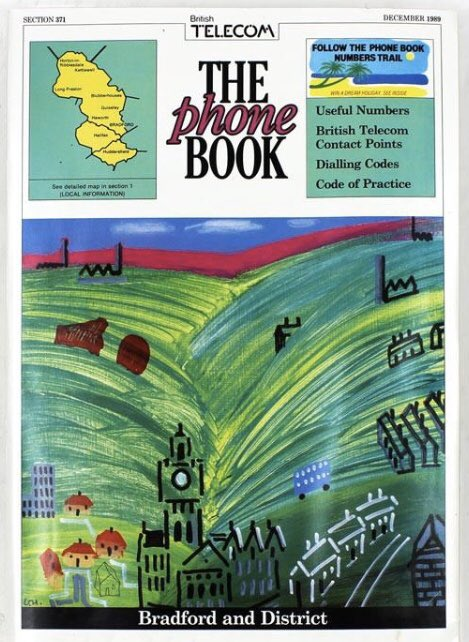 Lots of lovely David Hockney pictures around today but let me remind you that his best work was the 1989 Bradford phone book