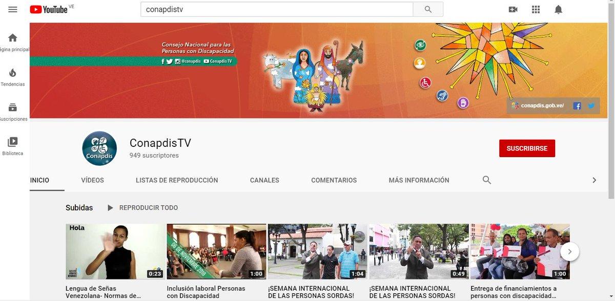 RT @Conapdis: #Enterate‼️ | Reabrimos nuestro canal de Youtube. Ve y Suscribete! 👇👇 https://t.co/qCiHuXb6p5 https://t.co/HRHvgkoI9o
