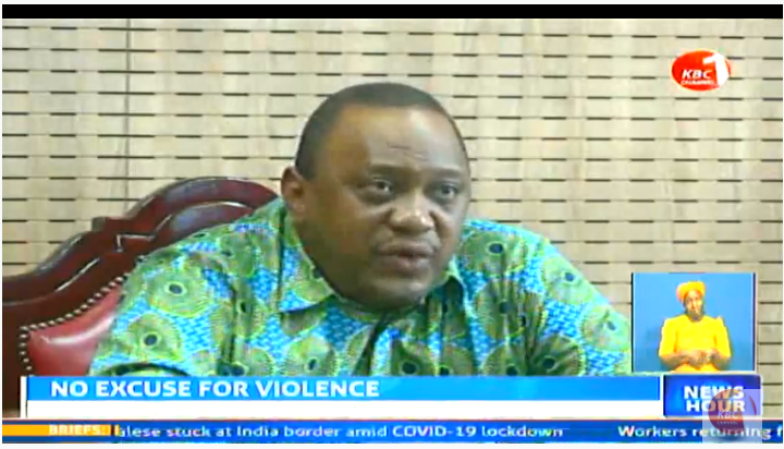 President Uhuru Kenyatta has apologized to Kenyans following incidents of violence during the first day of the dusk to down curfew. #KBCNewsHour ^CW     Stream--> https://kbc.co.ke/kbc-live/pic.twitter.com/6ZT0EWRbBo