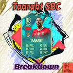 Image for the Tweet beginning: Taarabt SBC Breakdown  Did you complete