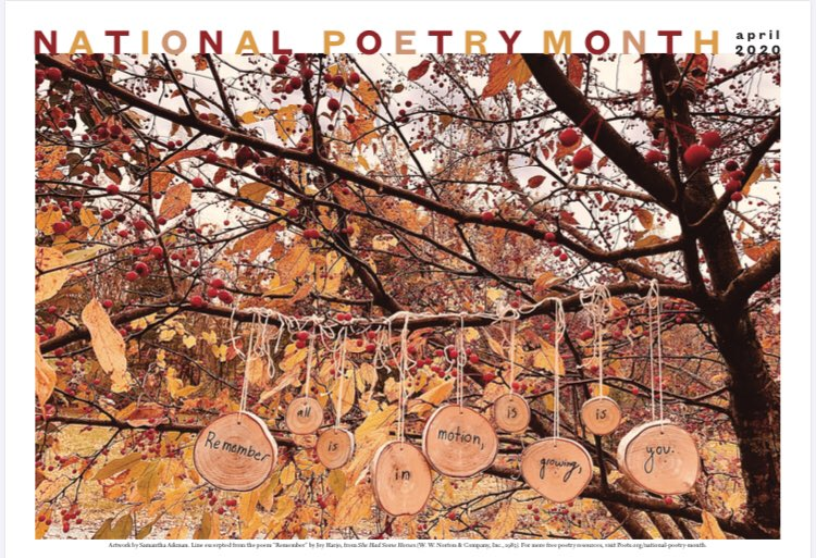 I love this year's poster. #NationalPoetryMonth