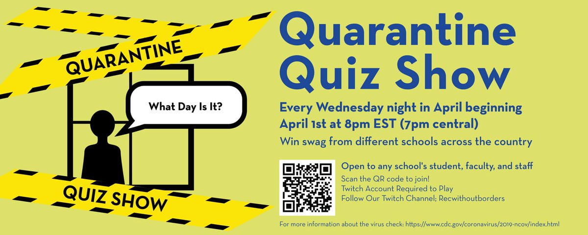 Do you have all the right answers? Let's found out tonight at 8pm!