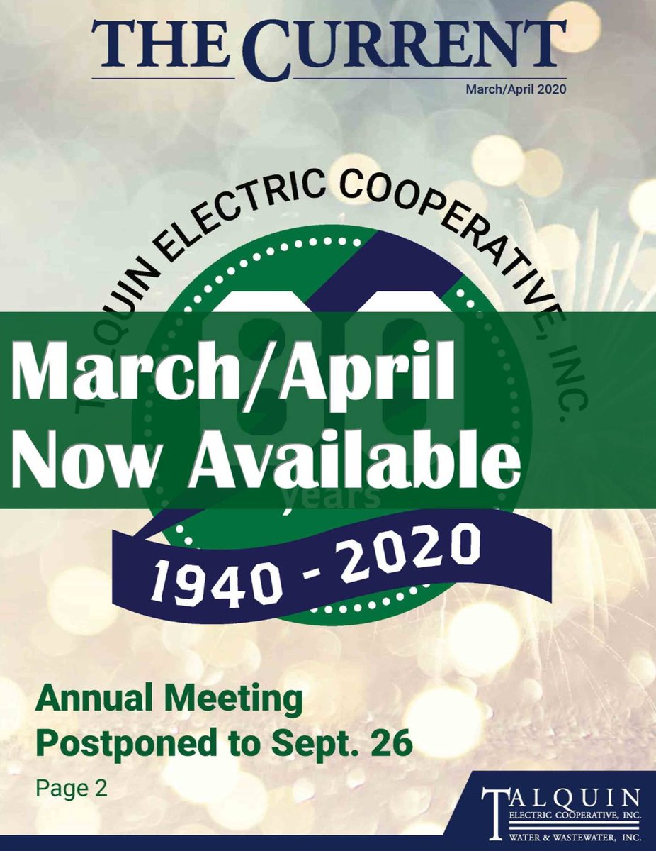 Talquin Electric Cooperative On Twitter The March April Edition Of The Current Is Now Available Https T Co Zxa6ecrehf Talquin's mission is to assure the continual availability of energy to its members and to provide the highest quality services at a reliable and affordable cost, consistent with sound business practices. twitter