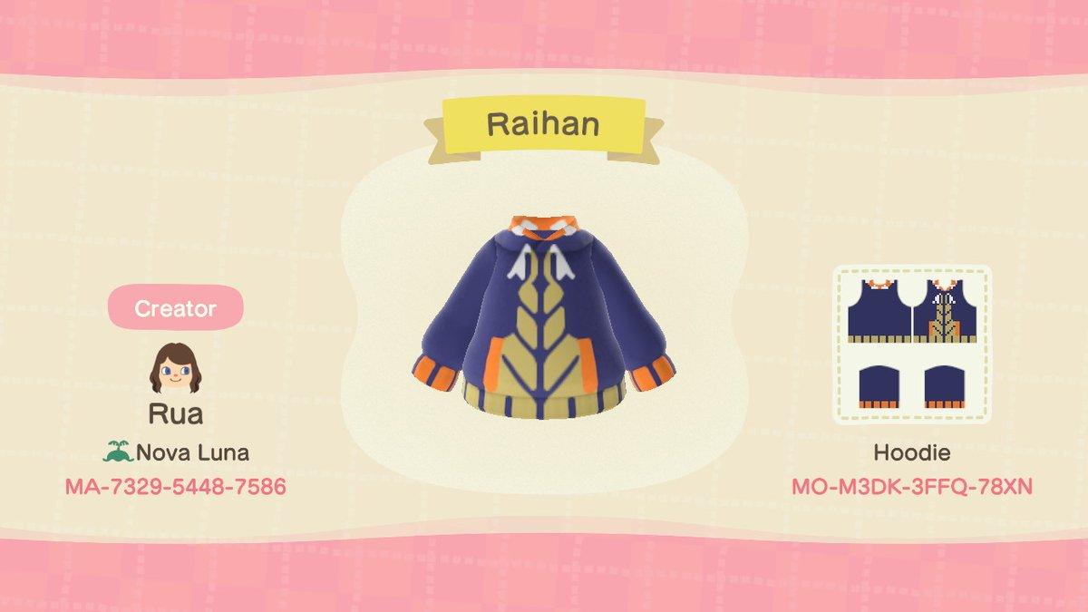 A Raihan hoodie I did #AnimalCrossing #ACNH #NintendoSwitch #pokemon #pokemonswordshield #pokemonswsh #raihanpic.twitter.com/g8o8dYDxG5