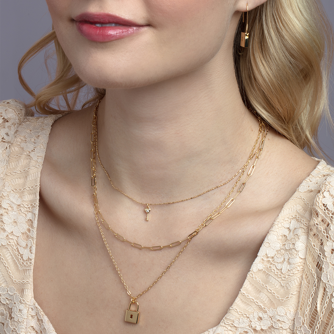 Good thing jewelry works for every season 👏 . . . #sterlingforever #newcollection #locks #pendants #key #chainlink #necklace #layered #earrings #fashion #trendy #jewelrylove #cute #styleguide #musthave #jewelry #womensstyle #giftidea