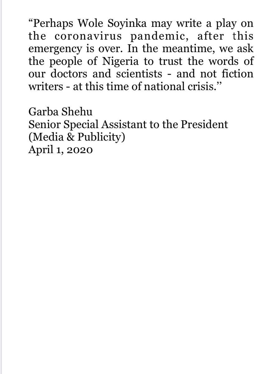 Presidency Nigeria On Twitter: