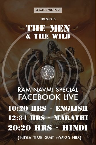 Join Us Live Today, we'd be exploring the topic of Ram Navmi & the learnings that are relevant in today's time. Especially in the context of #COVID19, there are some striking realizations we've missed to learn from. DM your questions & requests.   #ramnavmi2020 #lessonsforlife pic.twitter.com/MEA69faxFh