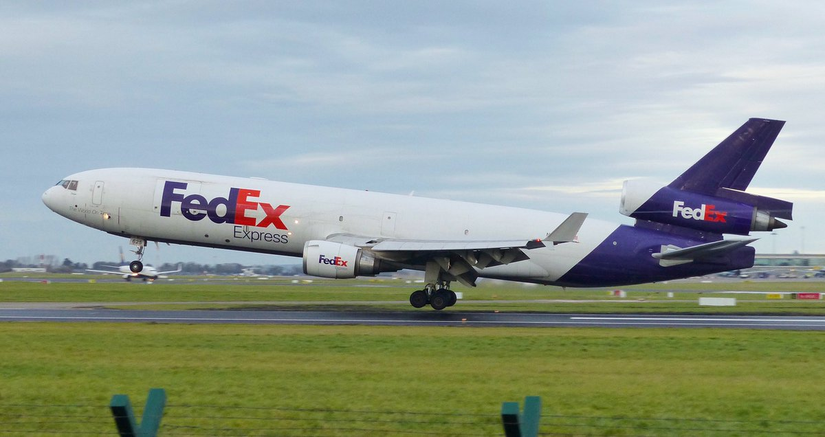 The mighty @FedEx MD11f moments before touchdown at @DublinAirport #avgeek #aviation #aviationphotography #MD11pic.twitter.com/DBCUE3zaJn