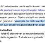 Image for the Tweet beginning: 50% is voor/tegen 'corona-apps' (nu