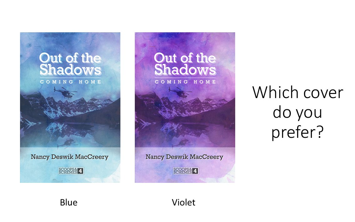 I'm working on a new book and would love your opinion!  Which cover looks more like a book you'd like to read?  #author #coverdesign #colorschallengepic.twitter.com/B2NoH8sR4i