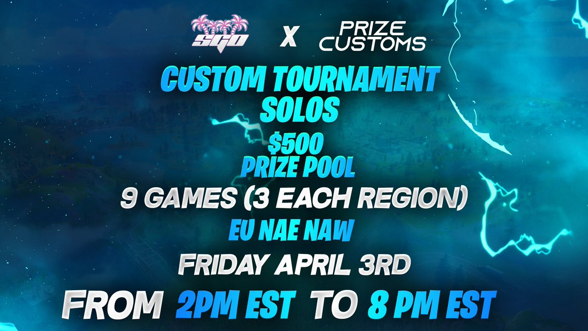 Who is ready for the $500 SGO Solo Customs Tournament!? RETWEET & TAG a friend if you are making some EASY CASH!#SGOontheRISE pic.twitter.com/Q9tYmWl2xO