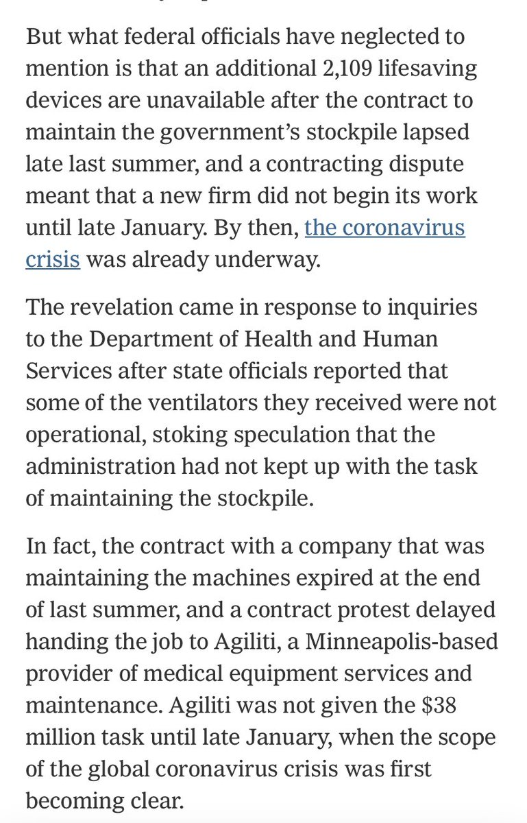 This is a crazy story about why so much of the US ventilator stockpile is unusable. nytimes.com/2020/04/01/us/…