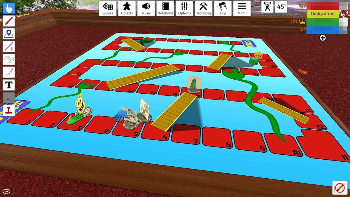 Reimooraid Oddy On Twitter Playin Some Eels N Escalators To Cope With Unsocial Menacing Last Time I Played Tabletop Simulator Obama Was Still In Office And We Meme D Trump Being President