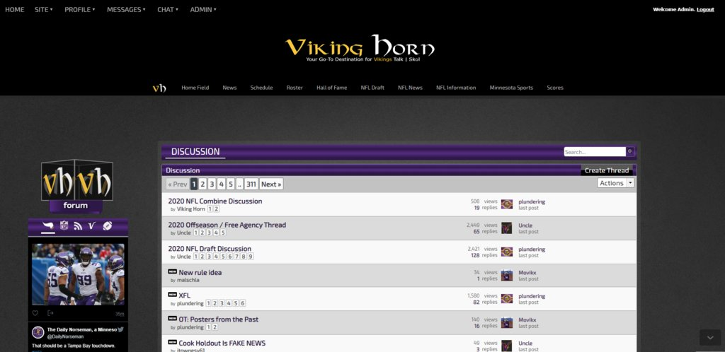 Join the Discussion on the Viking Horn  #Skol #Vikings #NFL #GoPackGo #OnePride #DaBears