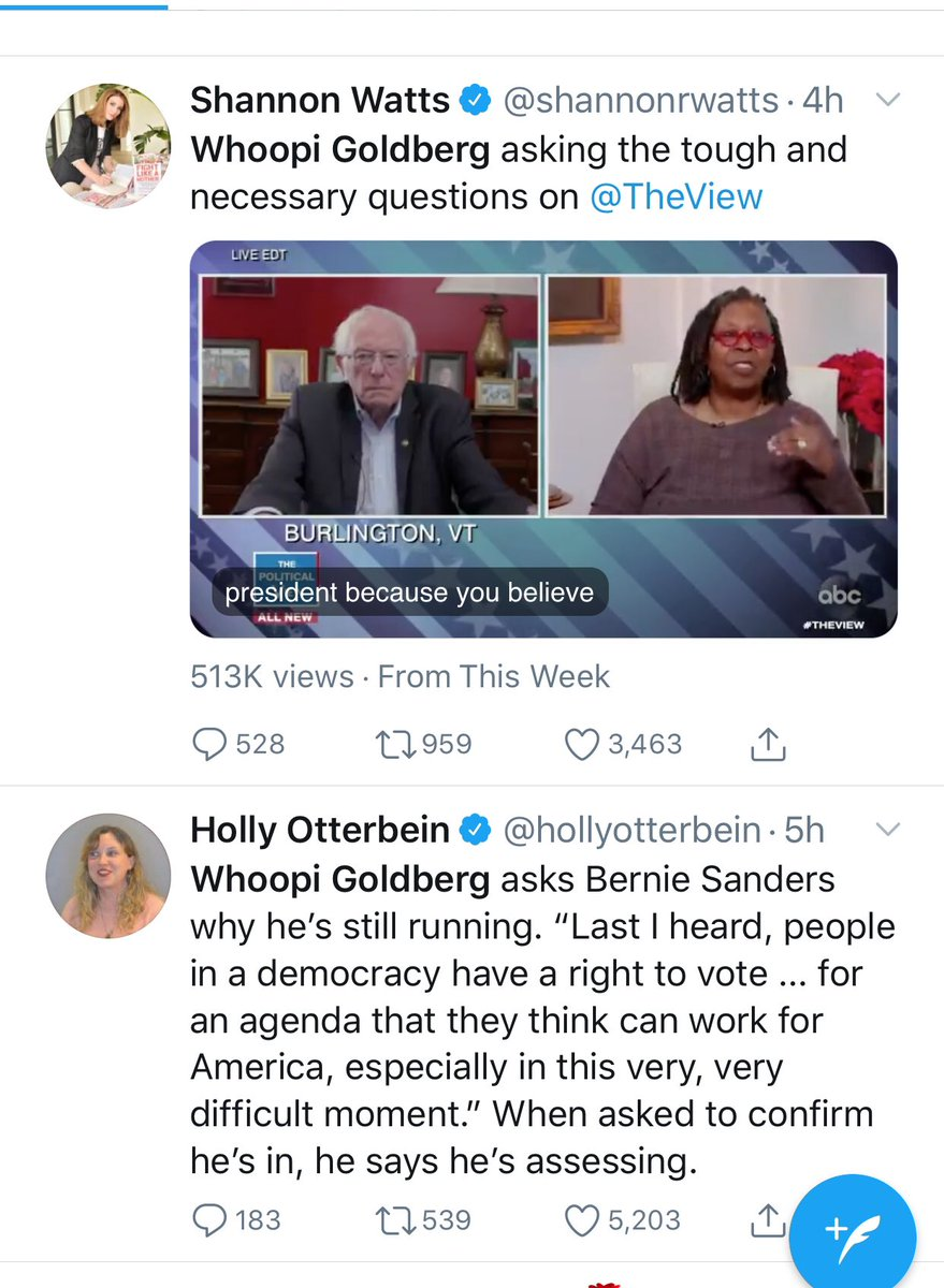 Fuck I don't know which I hate more rich out of touch celebrities like Whoopi Goldberg or the privileged brainlet bluecheckmarks propping up a rapist and opposing any candidate for healthcare   #VoteBlueNoMatterWho  #BernieDropOut pic.twitter.com/M3emrTbYIs