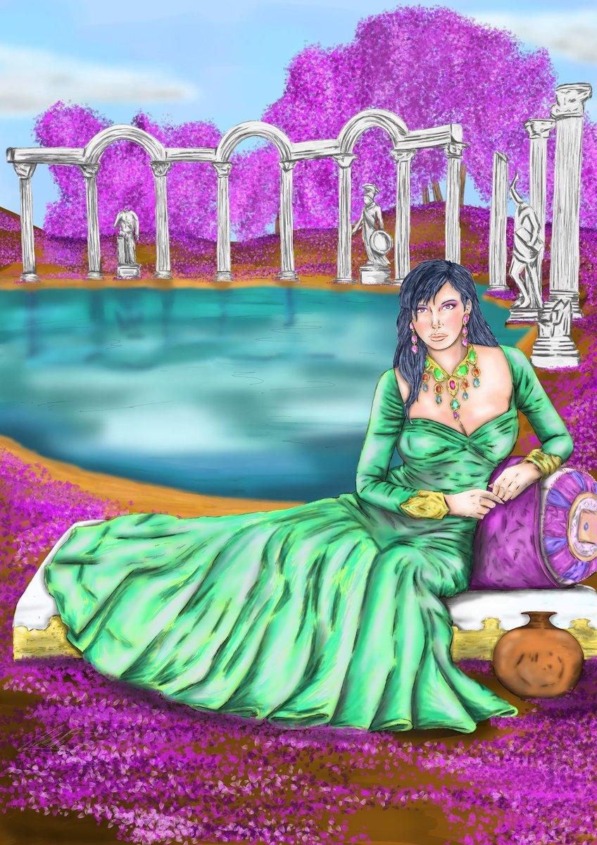 Ya está aquí la Diosa Hera en color. Espero que os guste. Dentro de poco tendréis otro dios #sketch #sketching #comic #comics #draw #drawing #dibujo #ink #inking #god #medibang #color #gods #olimpo #hera #diosa #color #tinta #dioses #grecia
