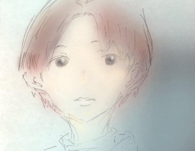 #おはようございます  #4月2日 #木曜日 #朝  ショートさん 昨日コンビニで見た女性を 参考に(ᵔᴥᵔ)  全然似ないなぁ 毛先が赤^_^  #art  #artwork  #落書き #イラスト #絵  #drawing #illustrations  #漫画 #manga  #創作  #春の創作クラスタフォロー祭り #イラスト好きな人と繋がりたい  #芸術同盟