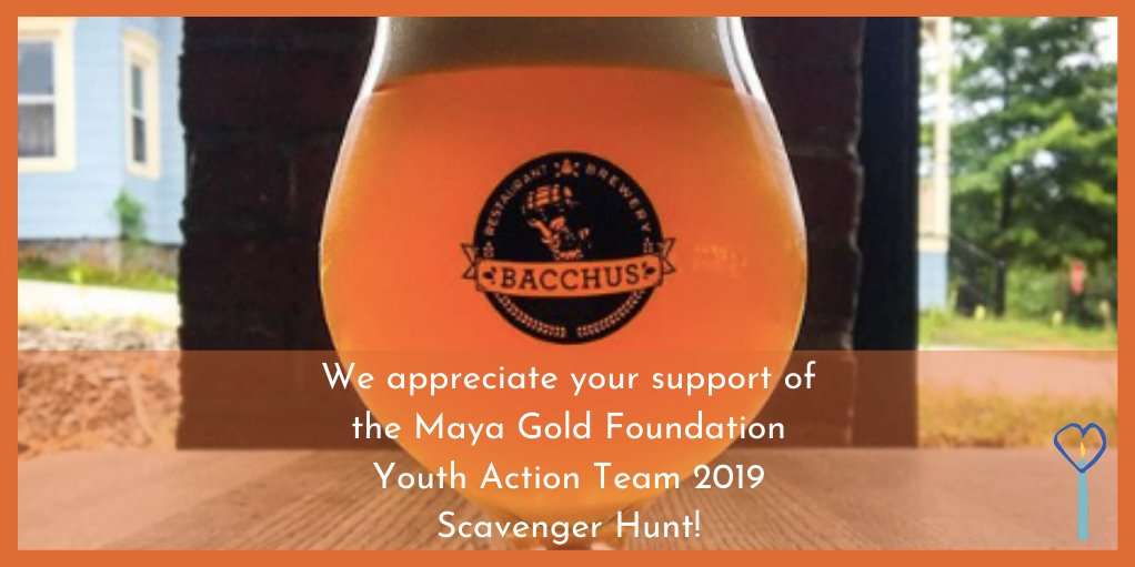Shout out to @Bacchus462  for sponsoring the Youth Action Teams Scavenger Hunt in 2019!  #mayagoldfoundation  #newpaltz  #youth  #activism  #youthempowerment  #empowerment  #local  #community  #sponsorship  #bacchusnp