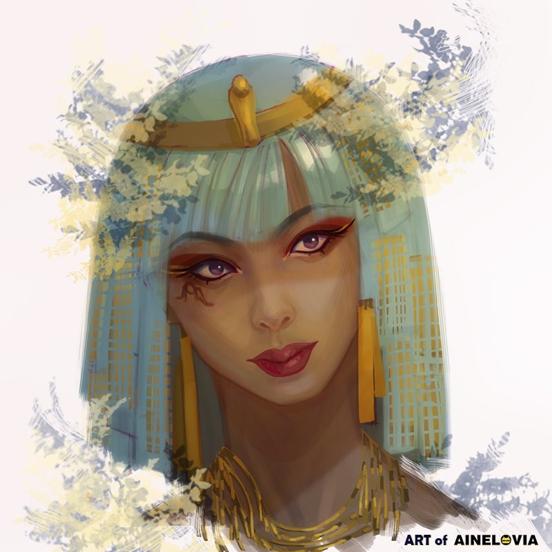I was inspired by an Isis' tarot card, then I named the original character Is...probably.  I will upload the drawing process video to my YouTube channel soon.  #painting #drawing #portrait #conceptart #stylish #artwork #sketch #Artist #ainelovia #woman #spring #art