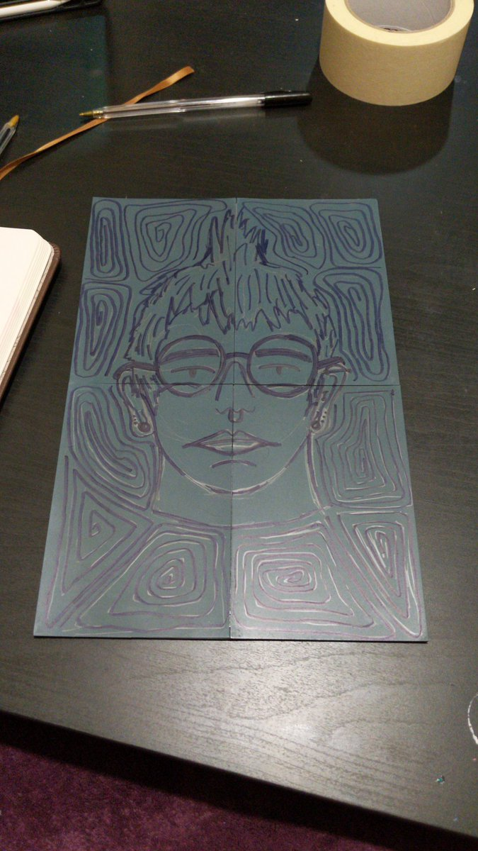 spent 4ish hours the other night sketching and carving a self portrait out of lino #lino #linocut #selfportrait #art #myart #illustration #illustrator #graphicdesign #graphicdesigner #printmaking #printmaker #hannahplane #hannahplaneillustration #planesailingdesignpic.twitter.com/q2eNHZ56Bn