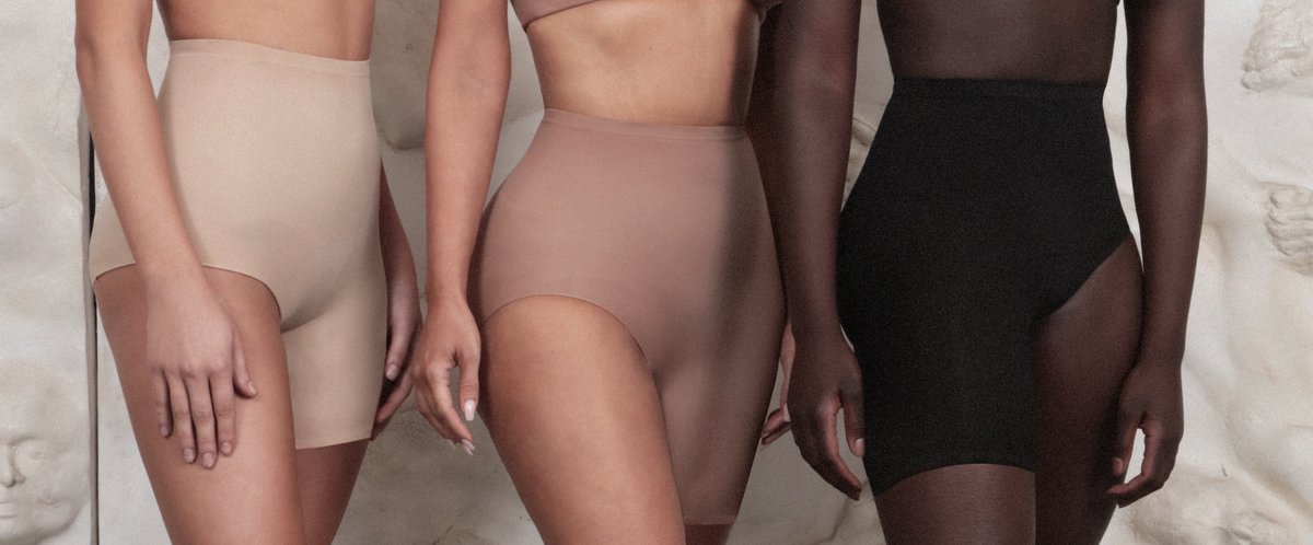 The Solution Short no. 2 — @KimKardashian's  sculpting solution to high-slit dresses and skirts. Shop now in 9 tonal shades and in sizes XXS - 5X at  http://SKIMS.COM  .