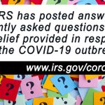 Image for the Tweet beginning: #IRS has posted answers to