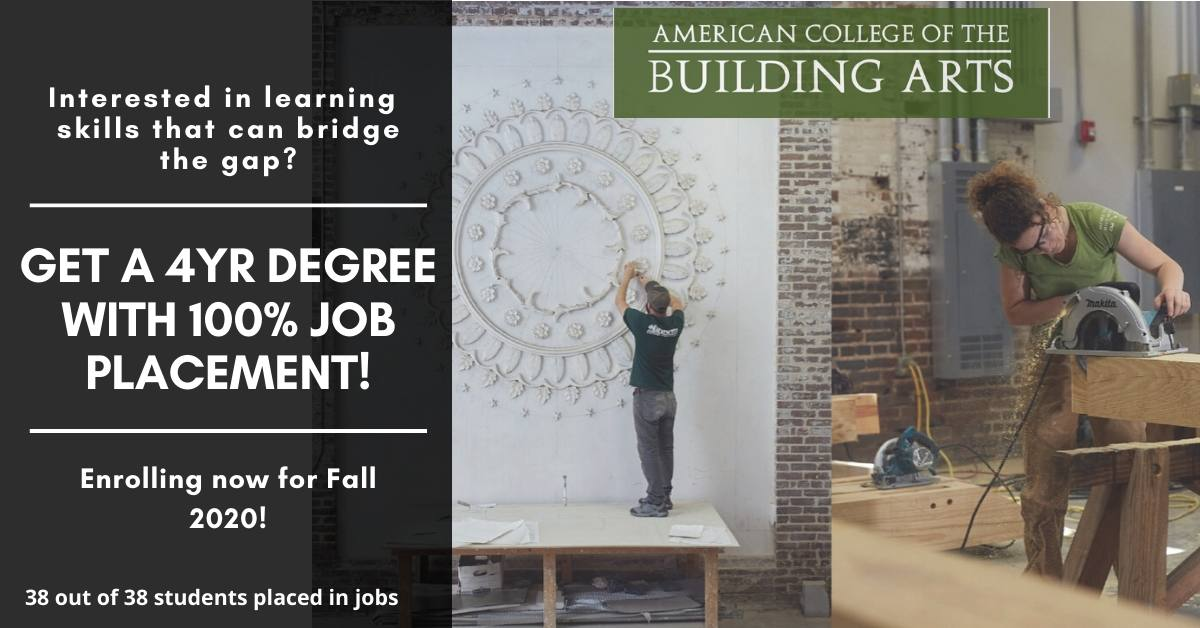 ACBA's Admissions Director, Marshelle Grant will be live to answer all your admissions and specialization questions on Wednesday, April 8th from 7 pm- 8 pm, and Thursday, April 9th from 11 am - 12 noon #blacksmith #architecture #carpentry #timberframing #plasterwork #stonecarverpic.twitter.com/uoyyfAGUC6