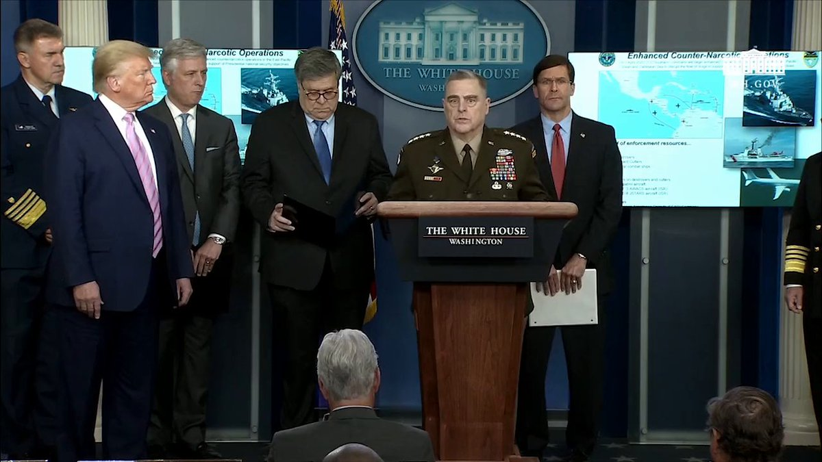 """""""Were at war with COVID-19, were at war with terrorists, and we are at war with the drug cartels . . . Were the United States military and we will defend our country. —General Mark Milley, Chairman of the Joint Chiefs"""