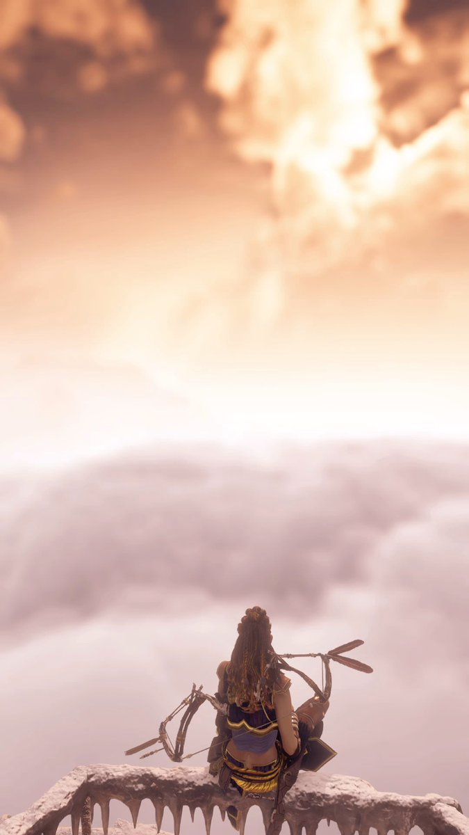 """""""Top of The World""""  (Tap to enlarge)  #HorizonZeroDawn #ThePhotoMode #WallpaperWednesday #VirtualPhotography #VGPUnite #TheCapturedCollective #AllAgesOfGeekArt #IngamePhotography #VPArchiveHour #SocietyOfVirtualPhotographers #GuerrillaGames #Sony #EarthIsOursNoMorepic.twitter.com/PnBNMyd6k7"""