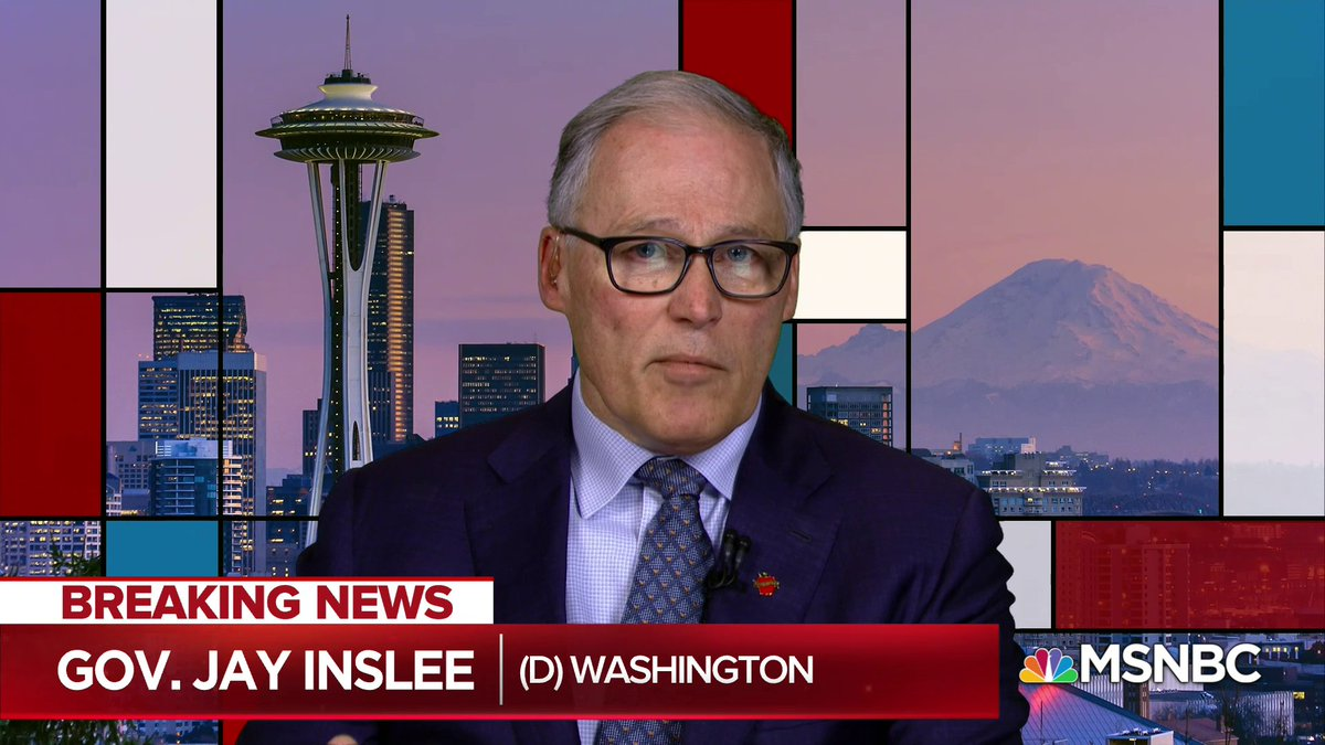 Live now on @MSNBC: Gov. Inslee discusses manufacturing of personal protective equipment with @Maddow
