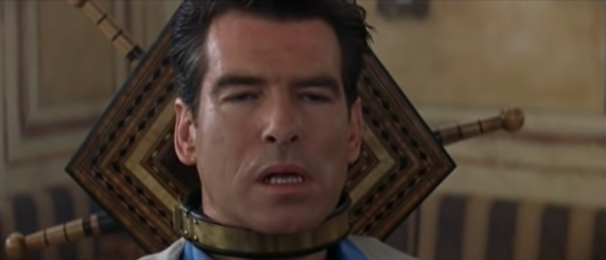 Pierce Brosnan's pain face sums up the current mood quite well