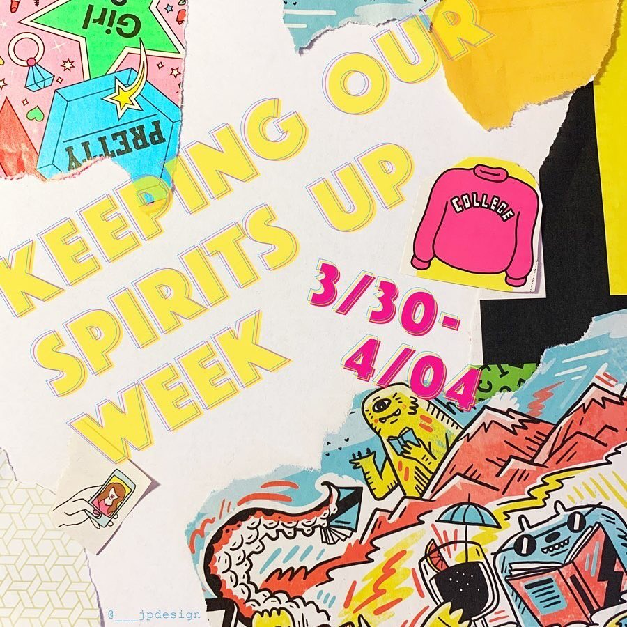 """Need some motivation to get out of your PJs? Julia Parrick '21, a Graphic Design major and resident assistant for the fifth floor of Sartain Hall, is hosting """"Keeping Our Spirits Up Week"""" to help Moore students stay connected through social media. http://Bit.ly/MooreSpiritspic.twitter.com/ThbeBgEqri"""