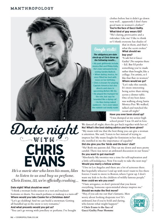 #tbt Let's see what Chris Evans said about dating back then.  😂