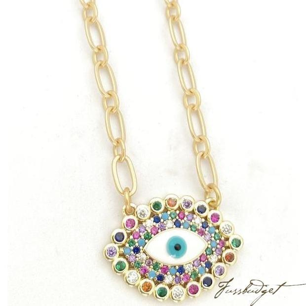 Mariel Rainbow Eye Necklace is now available in our shop for only $55.00. Buy it now  https://fussbudget.com/products/rainbow-eye-necklace …pic.twitter.com/OGRjle0BKP